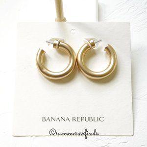 Banana Republic Matte Gold Hoop Earrings